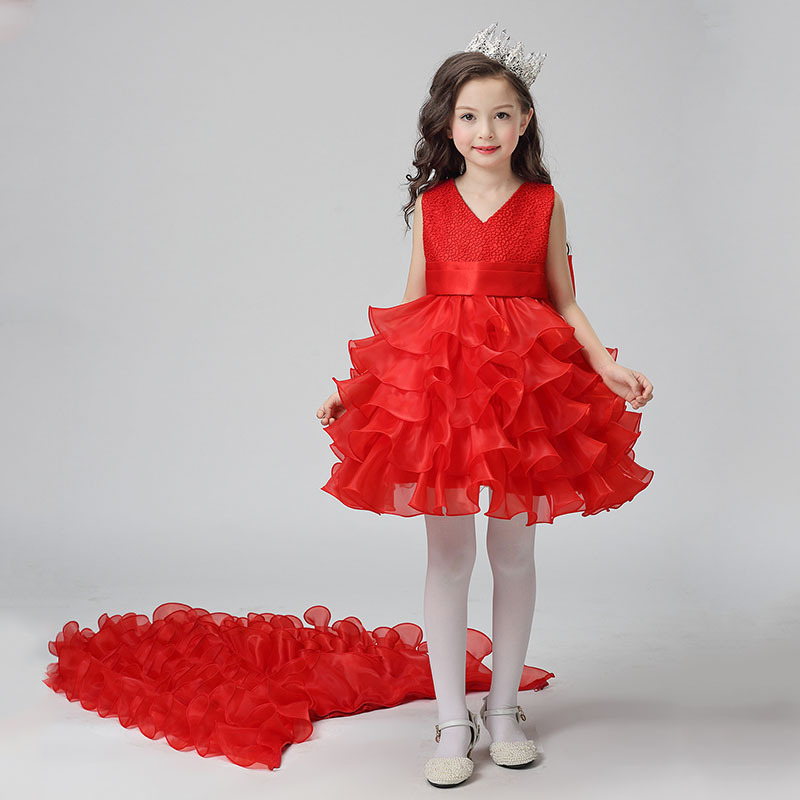 Girl Dresses 2017 Summer New Nimble Girl Dress Jacquard Ball Gown Handmade  Flowers Girls Clothes kid Mermaid Kids Wedding Dress – Fashionfourpassion 87cc03783236