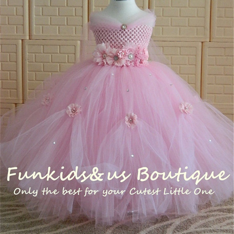 Flower Girl/'s Princess Dress Baby Kid Party Wedding Bridesmaid Formal Tutu Dress