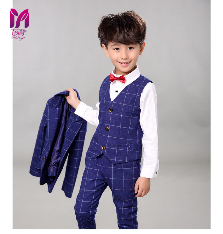 6bd3e9d7a38d 5pcs High quality 2017 new fashion baby boys kids boy suit for weddings  prom formal Silvery gray dress wedding boy suits – Fashionfourpassion