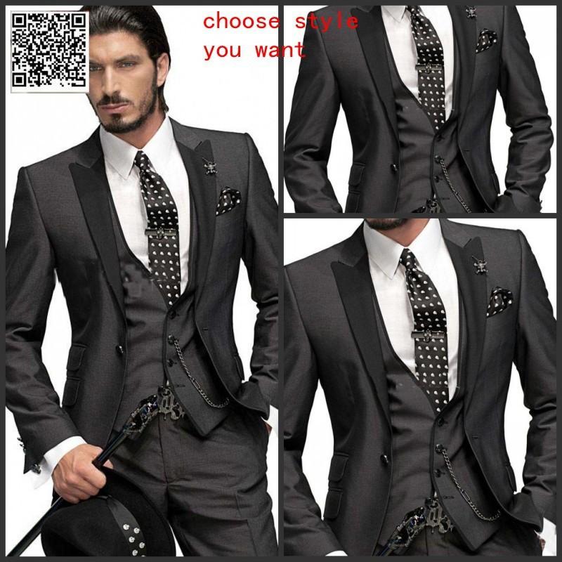 Italian Wedding Suits Men Party Dress Lounge Suit Tuxedos Groom Fashionfourpion